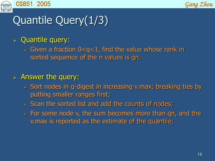 Quantile Query(1/3)