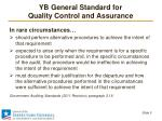 yb general standard for quality control and assurance1