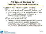 yb general standard for quality control and assurance11