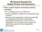 yb general standard for quality control and assurance13
