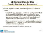 yb general standard for quality control and assurance2