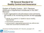 yb general standard for quality control and assurance3