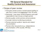 yb general standard for quality control and assurance5