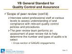 yb general standard for quality control and assurance6