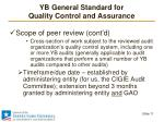 yb general standard for quality control and assurance7