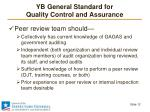 yb general standard for quality control and assurance8