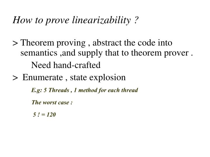 How to prove linearizability ?
