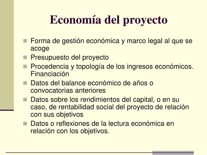 Economía del proyecto