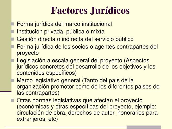 Factores Jurídicos