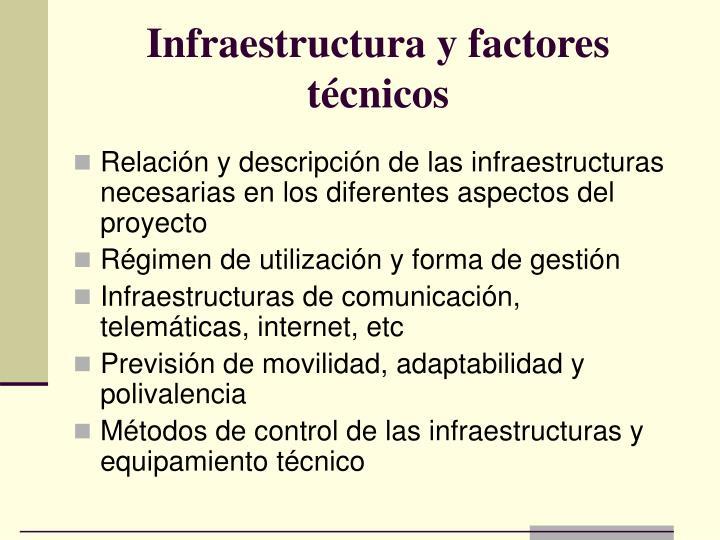Infraestructura y factores técnicos