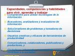 capacidades competencias y habilidades para vivir aprender y trabajar