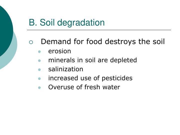 B. Soil degradation