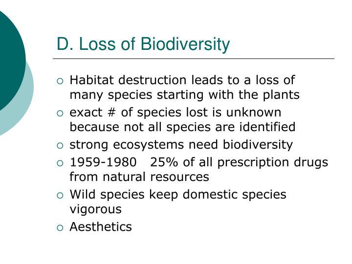 D. Loss of Biodiversity