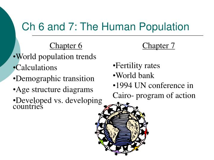 Ch 6 and 7: The Human Population