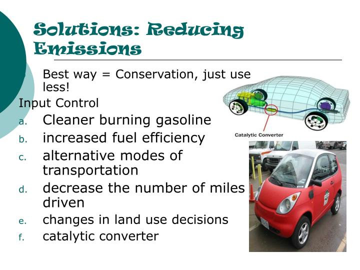Solutions: Reducing Emissions