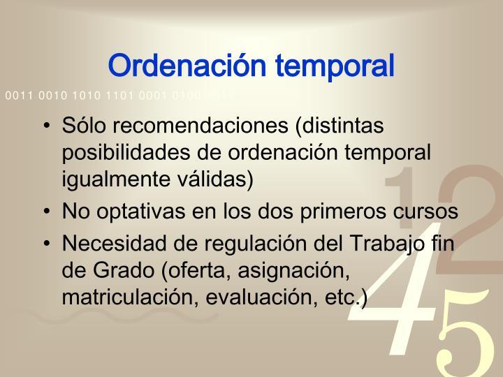 Ordenación temporal