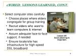 ewired lessons learned cont