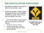 the digital divide for elders