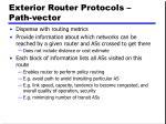 exterior router protocols path vector