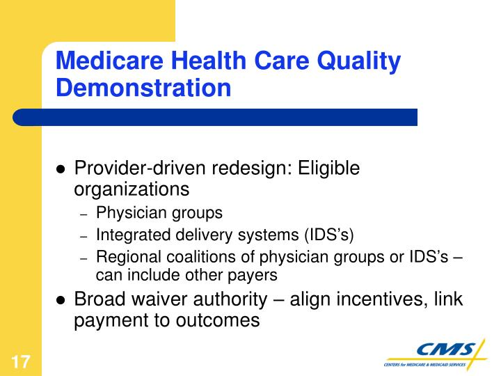 Medicare Health Care Quality Demonstration