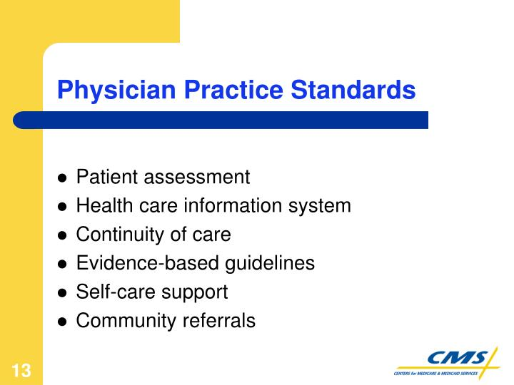 Physician Practice Standards