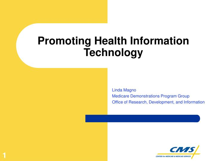 Promoting health information technology