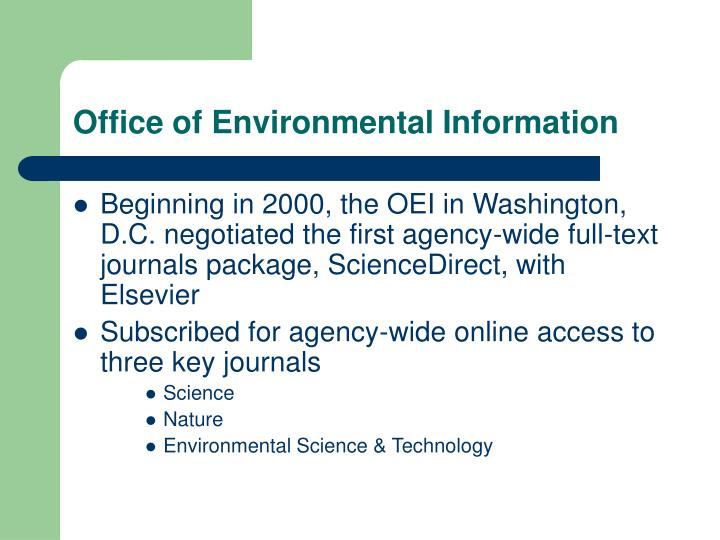 Office of Environmental Information