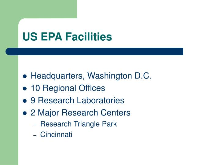 US EPA Facilities