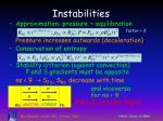 instabilities
