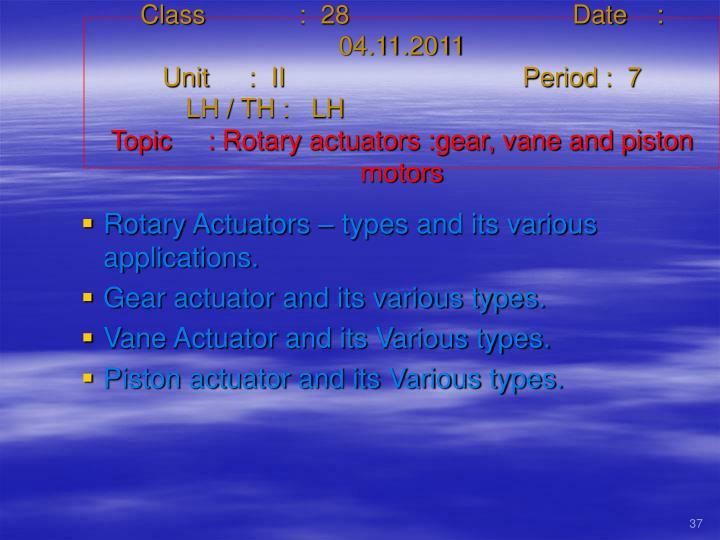 Class   :  28Date    :  04.11.2011