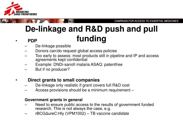 Push And Pull Linkage : Ppt the de linkage of cost research and