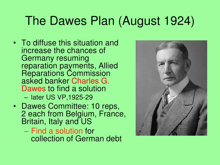 The Dawes Plan (August 1924)