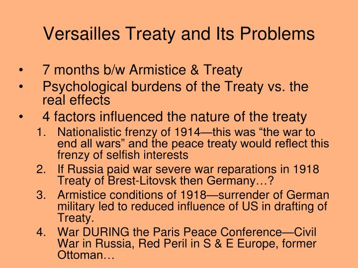 Versailles treaty and its problems