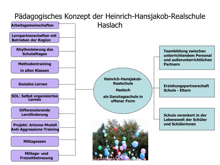 P dagogisches konzept der heinrich hansjakob realschule haslach