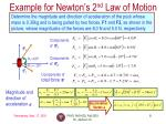 example for newton s 2 nd law of motion1