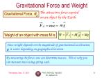 gravitational force and weight