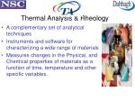 thermal analysis rheology