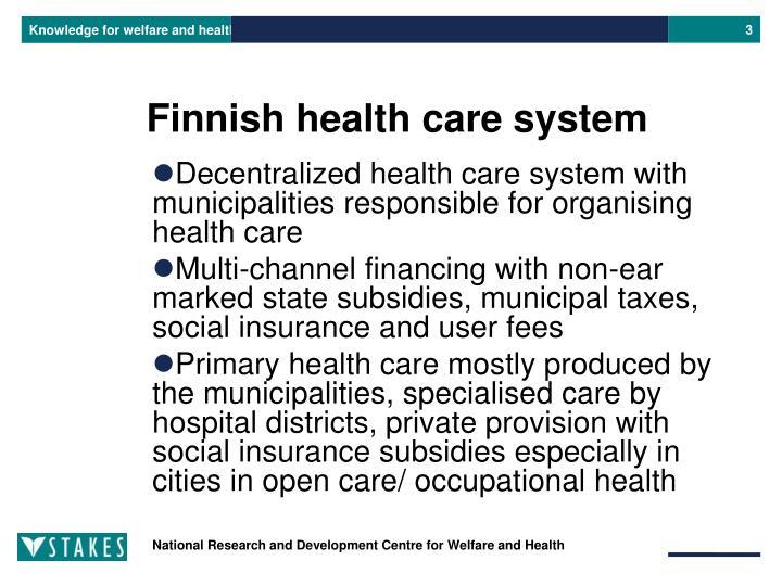 Finnish health care system