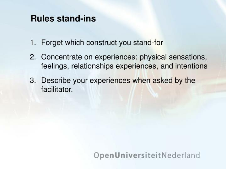Rules stand-ins