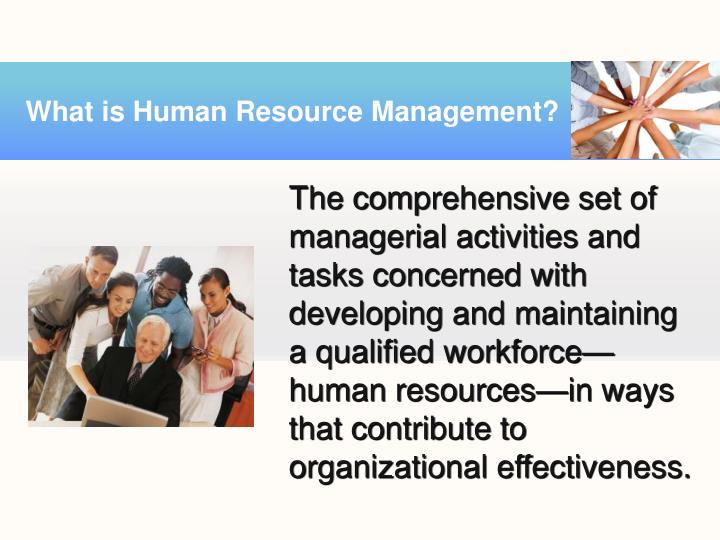 an effectiveness of human resource management