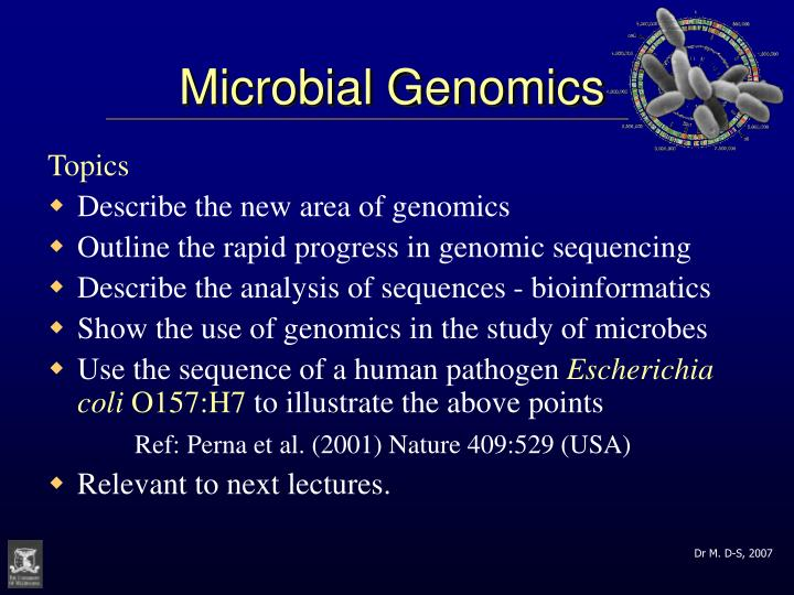 microbial genomics