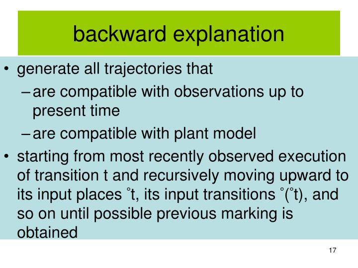 backward explanation