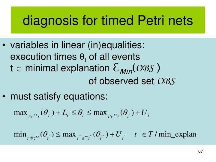 diagnosis for timed Petri nets