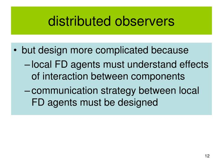 distributed observers
