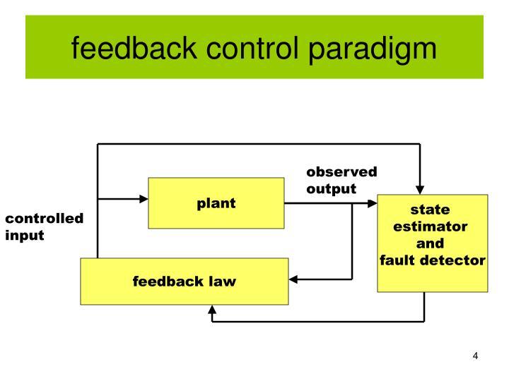 feedback control paradigm