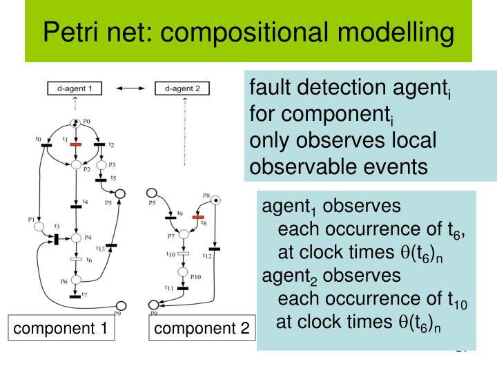 Petri net: compositional modelling