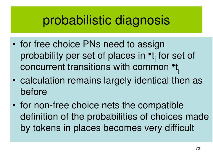 probabilistic diagnosis