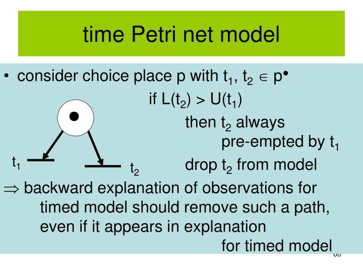 time Petri net model