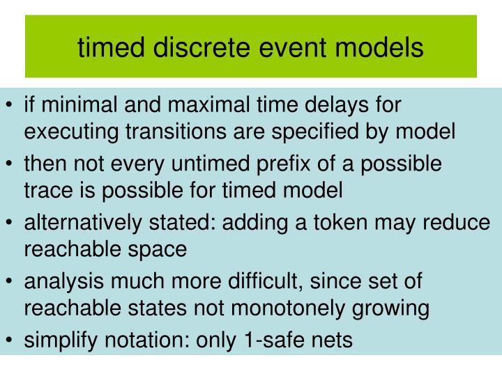 timed discrete event models