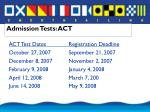 admission tests act